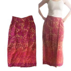 Sigrid Olsen Sport brand wraparound pattern skirt